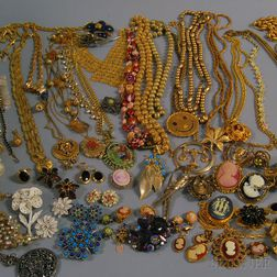 Miscellaneous Group of Costume Jewelry