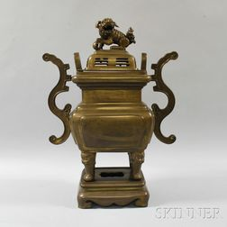 Large Brass Censer and Cover