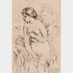 Pierre-Auguste Renoir (French, 1841-1919)      Baigneuse debout, a mi-jambes