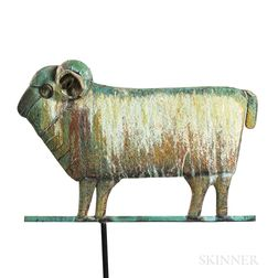 Molded Sheet Copper Ram Weathervane