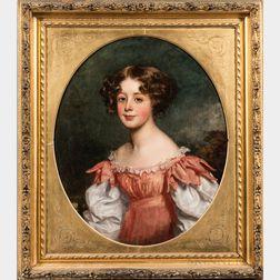 John Graham-Gilbert (Scottish, 1794-1866)      Portrait of Isabella Jessie Hopkirk