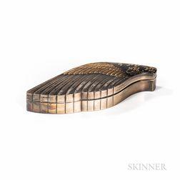 Mixed-metal/Gold-inlaid Silver Box