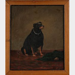 Henry W. Henley (British, fl. 1871-1895)      Portrait of Charley, A Manchester Terrier