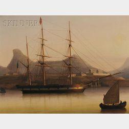 Thomas Birch (American, 1779-1851)      Decatur's Sloop 'Intrepid' at Tripoli