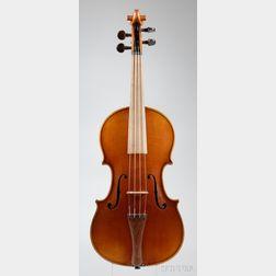 Modern German Violin in Baroque Form, Walter Merzdorf, Markneukirchen, 1939