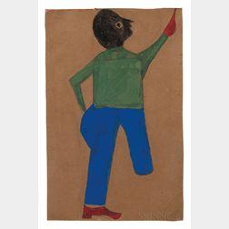 Bill Traylor (Alabama, 1854-1947)      Untitled Figure