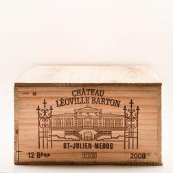 Chateau Leoville Barton 2008, 12 bottles (owc)