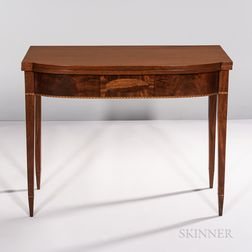 Federal Mahogany Inlaid Card Table