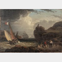 Robert Salmon (Massachusetts/United Kingdom, 1775-1844)      Two Maritime Scenes