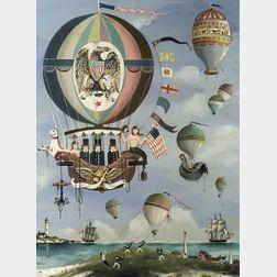 Ralph Cahoon (American, 1910-1982)  A Balloon Ride