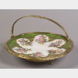 Paris Porcelain Gilt Metal Mounted Dish