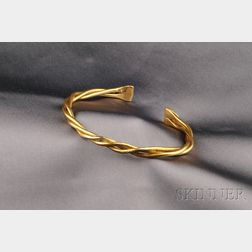 High Karat Gold Cuff
