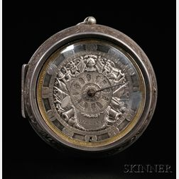 Bukinham Silver Pair Case Watch with Differential Dial