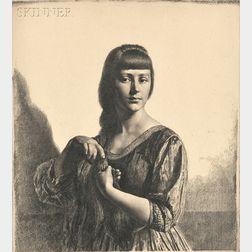 Gerald Leslie Brockhurst (British, 1890-1978)      Two Portraits: La Tresse