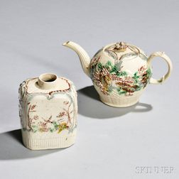 Two Greatbatch-type Creamware Tea Wares