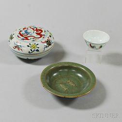 Three Porcelain Items