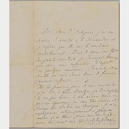 Liszt, Franz (1811-1886) Autograph Letter Signed, 9 April 1866.