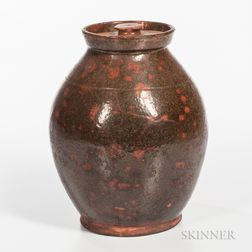 Glazed Redware Jar