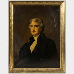 American School, 19th Century       Portrait of Thomas Jefferson