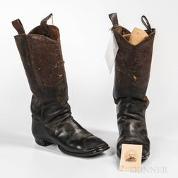 Pair of Civil War Officer's Boots and Carte-de-visite Identified to Brevet Major General Ralph Pomeroy Buckland