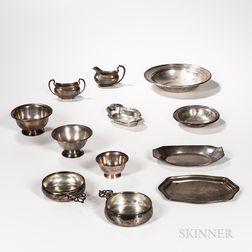 Twelve Pieces of Sterling Silver Tableware
