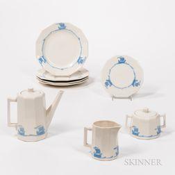 Eight Pieces of Rookwood Ship-decorated Ceramic Tableware.     Estimate $100-300
