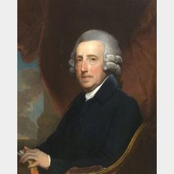Attributed to Gilbert Stuart (England and American 1755-1828)  Portrait of Colonel Thomas Dawes (1731-1809)