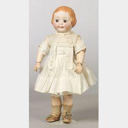 Hertel & Schwab 163 Googly-eyed Bisque Head Doll