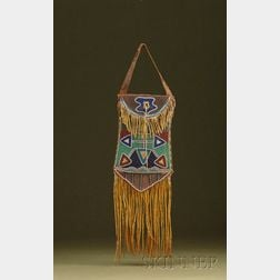 Southern Plains Beaded Commercial Leather and Hide Dispatch Bag