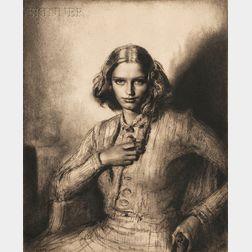 Gerald Leslie Brockhurst (British, 1890-1978)      Jeunesse Dorée (Ophelia)