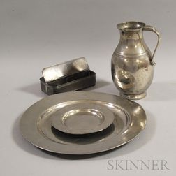 Four Pieces of Pewter