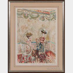 Constantin Terechkovitch (Russian, 1902-1978)      Elegant Ladies