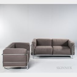 Le Corbusier LC3-style Sofa and Chaise