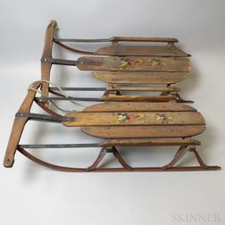 """Two S.L. Allen & Co. """"Mickey Mouse No. 80"""" Sleds"""