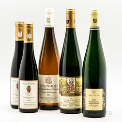 Mixed German Wines, 3 bottles 2 demi bottles