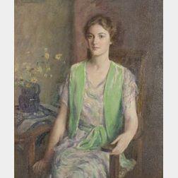Mary Brewster Hazelton (American, 1868-1953)  The Green Jacket