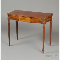 Federal Mahogany Carved and Inlaid Card Table