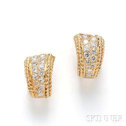 18kt Gold and Diamond Earrings, Van Cleef & Arpels