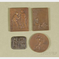 Four Miscellaneous Bronze Medals