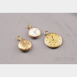 14kt Gold Open Face Pocket Watch, Hodson Kennard & Co., International Watch Co.