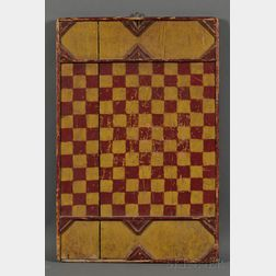 Red- and Yellow-painted Wood Game Board