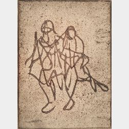 Mark Tobey (American, 1890-1976)      Companionship