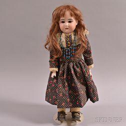 Edmund Ulrich Steiner Bisque Shoulder Head Doll
