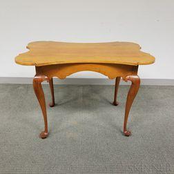 Queen Anne-style Cherry Porringer-top Tea Table