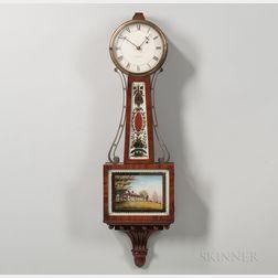 "Walter H. Durfee Patent Timepiece or ""Banjo"" Clock"