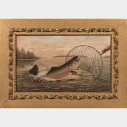 American School, Late 19th Century      Catching Trout