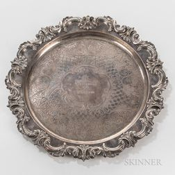 Frank W. Smith Silver Co. Sterling Silver Yachting Trophy Dish