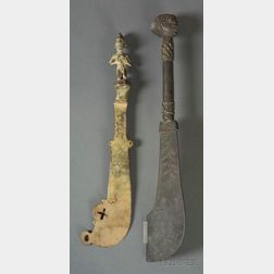 Two African Bronze Knives