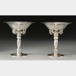 Two Georg Jensen Grape Compotes No. 263
