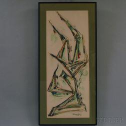 Chaim Gross (American, 1904-1991)      Sculptural Composition.